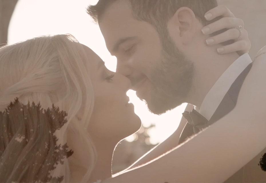 wedding couple closeup