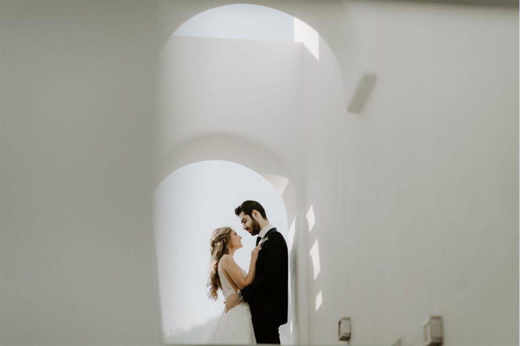 santorini greece white wedding